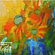 Абстракция ручной работы. Ярмарка Мастеров - ручная работа. Купить Картина Осколки солнца. Handmade. Желтый, холст, акрил, подрамник