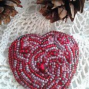 Украшения handmade. Livemaster - original item Brooch - heart. Brooch - heart. Handmade.