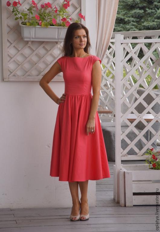 Длинное летнее вечернее платье купить