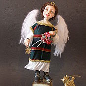 """Куклы и игрушки ручной работы. Ярмарка Мастеров - ручная работа Авторская Кукла """" Рождественский ангел"""" из полимерной глины. Handmade."""