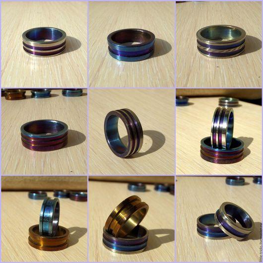 Кольца ручной работы. Ярмарка Мастеров - ручная работа. Купить Кольца Multicolor (анодированный титан). Handmade. Комбинированный, титан