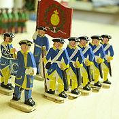 Куклы и игрушки ручной работы. Ярмарка Мастеров - ручная работа Шведская армия Карла XII (Упландский полк) 8 фигур. Handmade.
