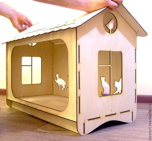Аксессуары для кошек, ручной работы. Ярмарка Мастеров - ручная работа. Купить Кошачий домик. Handmade. Домик для кошки, мебель для животных