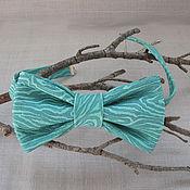 Аксессуары handmade. Livemaster - original item Turquoise-and-emerald bow tie made of genuine leather. Handmade.