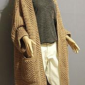 """Одежда ручной работы. Ярмарка Мастеров - ручная работа Длинный кардиган """"Colore cammello"""". Handmade."""