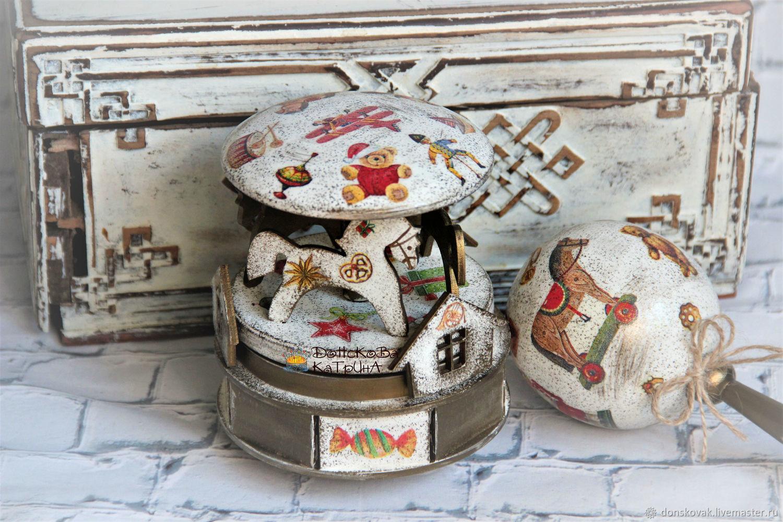 """Набор игрушек из коллекции """"Ретро"""" (карусель и погремушка), Подарки для новорожденных, Москва,  Фото №1"""