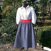 Одежда ручной работы. Ярмарка Мастеров - ручная работа Юбка с блузой Версаль, размер М-XL. Handmade.