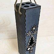 Упаковочная коробка ручной работы. Ярмарка Мастеров - ручная работа Подарочная коробка для вина. Handmade.