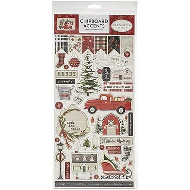 Материалы для творчества ручной работы. Ярмарка Мастеров - ручная работа Чипборд Christmas Market Chipboard. Handmade.
