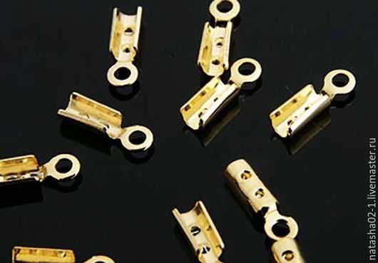Для украшений ручной работы. Ярмарка Мастеров - ручная работа. Купить Концевик  зажим позолота Gold plated  Южная Корея. Handmade.