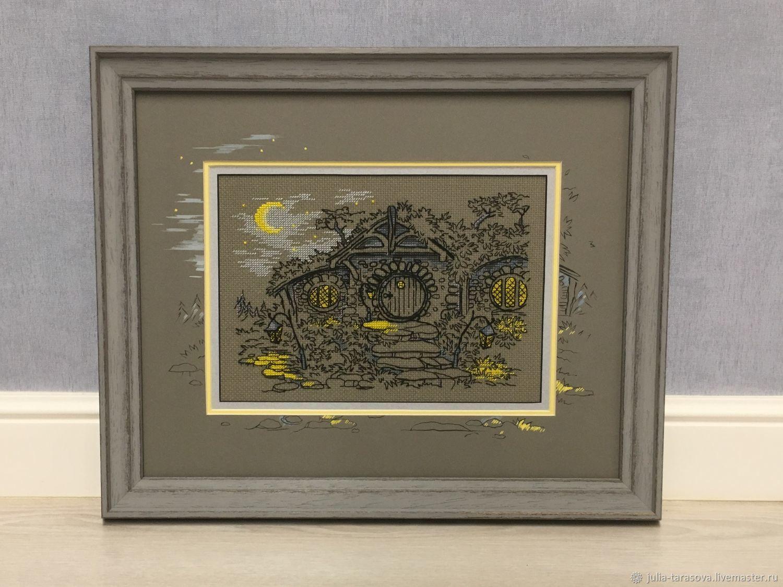 """Вышивка """"Вечер в Хоббитании"""" по схеме Марии Бровко, Картины, Королев, Фото №1"""