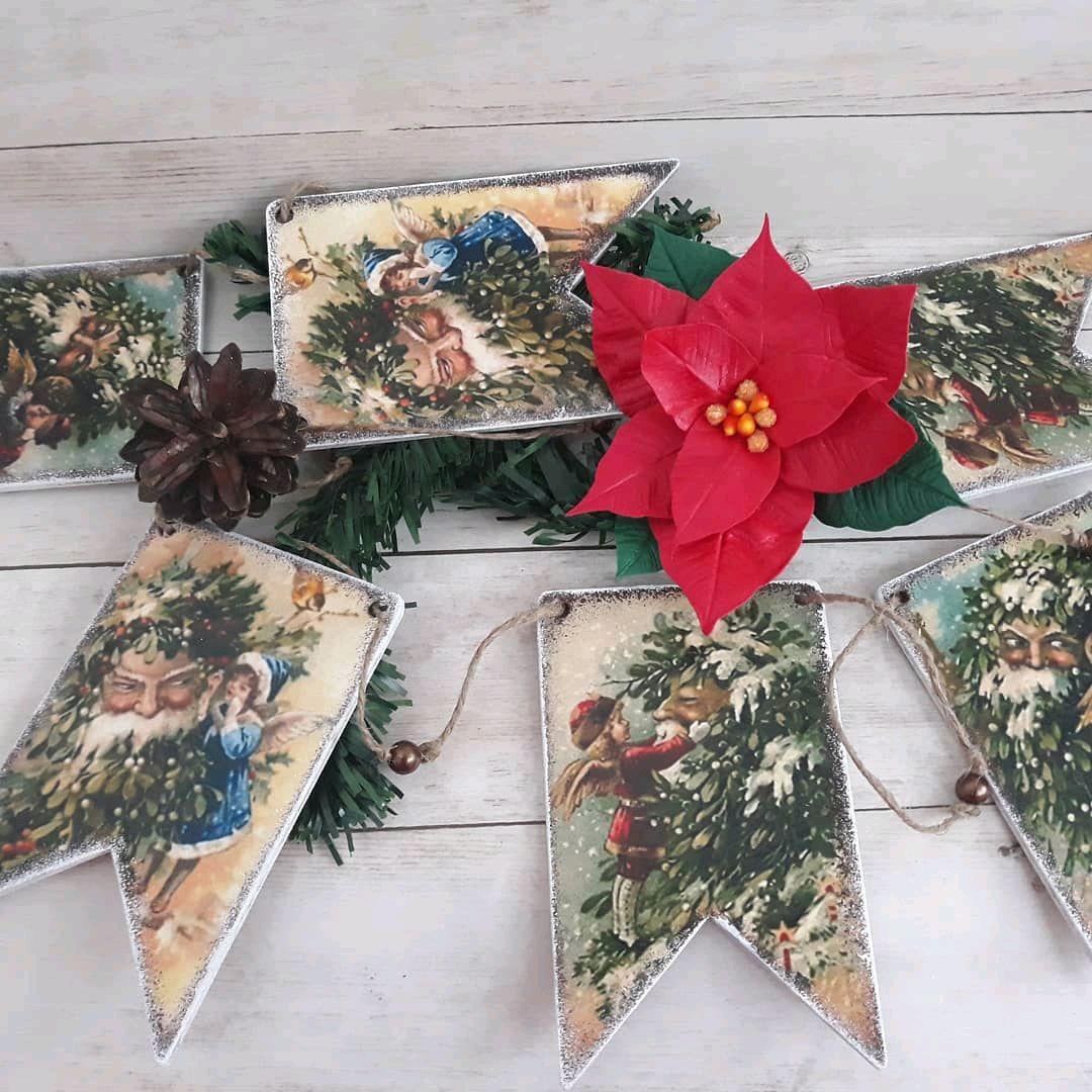 Винтажная новогодняя гирлянда, Елочные игрушки, Москва, Фото №1
