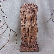 Для дома и интерьера handmade. Livemaster - original item Wooden statuette of Loki, the Norse God. Handmade.