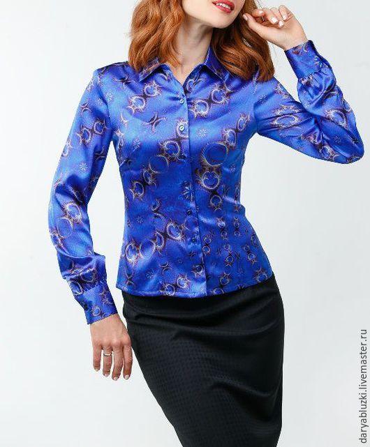 """Блузки ручной работы. Ярмарка Мастеров - ручная работа. Купить Блузка из шелка """"Модница"""". Handmade. Абстрактный, блузка, блузка из шелка"""