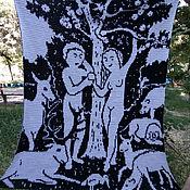"""Картины и панно ручной работы. Ярмарка Мастеров - ручная работа Гобелен """"Адам и Ева"""". Handmade."""