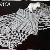 Для дома и интерьера ручной работы. Ярмарка Мастеров - ручная работа Белая салфетка.Дорожка вязаная.. Handmade.