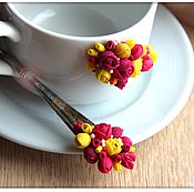 Посуда ручной работы. Ярмарка Мастеров - ручная работа Чайное трио в цвету. Handmade.
