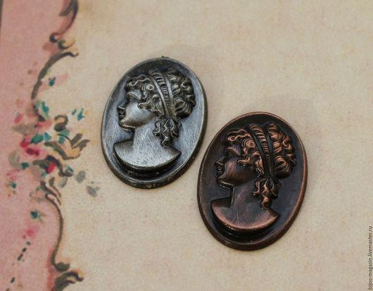 Реставрация. Ярмарка Мастеров - ручная работа. Купить Винтажные формы / штампы камея Чехия , цвет бронза и серебро. Handmade.