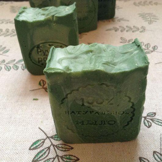 Мыло ручной работы. Ярмарка Мастеров - ручная работа. Купить Мыло ЕЛОВОЕ (ХВОЙНОЕ). Handmade. Зеленый, мыло без красителей