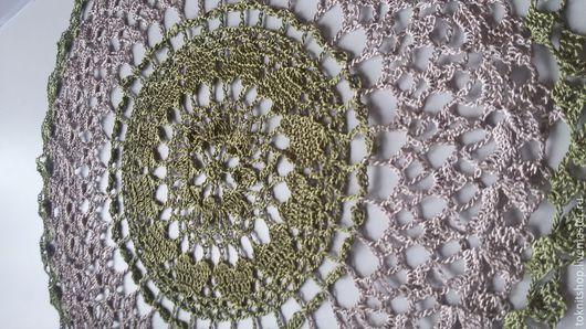Текстиль, ковры ручной работы. Ярмарка Мастеров - ручная работа. Купить Зеленая салфетка. Handmade. Болотный, ручная работа, салфетка