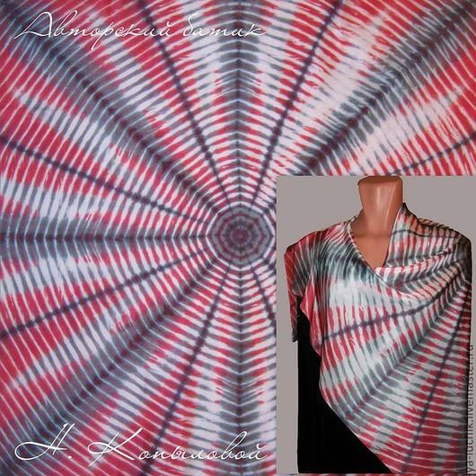 """Шали, палантины ручной работы. Ярмарка Мастеров - ручная работа. Купить Платок """"Космический эфир"""". Handmade. Абстрактный, шелковый платок"""