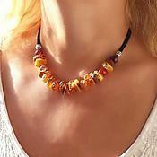 Украшения handmade. Livemaster - original item Healing amber choker with natural stones for women and girls. Handmade.