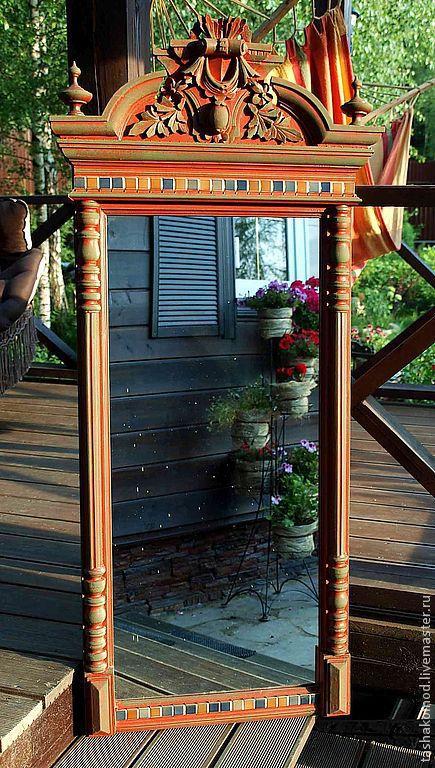 """Зеркала ручной работы. Ярмарка Мастеров - ручная работа. Купить Зеркало """"Итальянские изразцы"""" (серия мебели). Handmade. Мебель для дома"""
