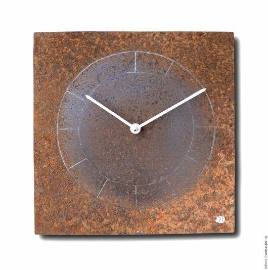Часы для дома ручной работы. Ярмарка Мастеров - ручная работа. Купить Часы настенные, ржавые с кругами. Handmade. Коричневый