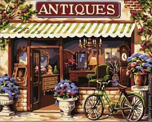 Другие виды рукоделия ручной работы. Ярмарка Мастеров - ручная работа. Купить Картина по номерам Антикварная лавка. Handmade.