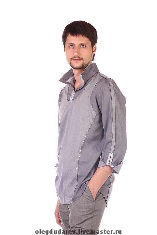 Для мужчин, ручной работы. Ярмарка Мастеров - ручная работа. Купить Рубашка мужская. Handmade. Рубашка, дизайнерская одежда
