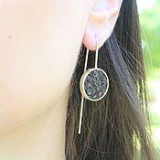 Украшения handmade. Livemaster - original item Earrings with obsidian made of 925 SER0015 silver. Handmade.