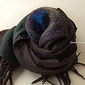 Аксессуары ручной работы. Ярмарка Мастеров - ручная работа Теплый шарф из мериносовой шерсти и шелкового шифона. Handmade.