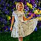 """Платья ручной работы. Ярмарка Мастеров - ручная работа. Купить Платье из хлопкового футера """"Лица"""". Handmade. Белый, платье"""