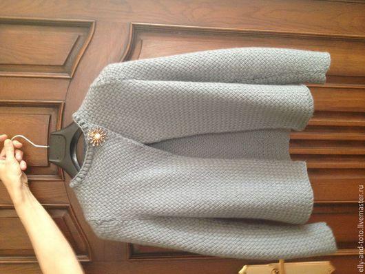 Пиджаки, жакеты ручной работы. Ярмарка Мастеров - ручная работа. Купить Кардиган. Handmade. Серый, однотонный, подиум, Мериносовая шерсть