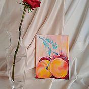 Картины ручной работы. Ярмарка Мастеров - ручная работа Картина маслом вишня. Handmade.