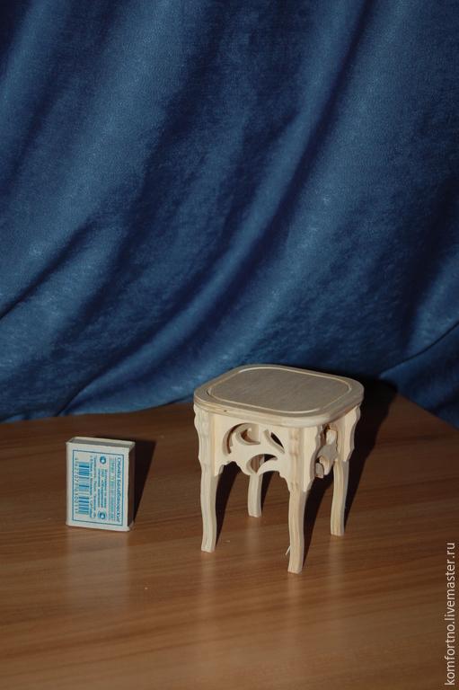 Кукольный табурет.Заготовка для декупажа и росписи.207