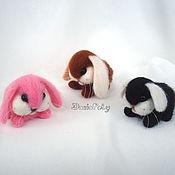 Куклы и игрушки ручной работы. Ярмарка Мастеров - ручная работа Мини зайцы из шерсти. Handmade.