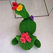 Для дома и интерьера handmade. Livemaster - original item Cactus. Maybe he is a green cat. Handmade.
