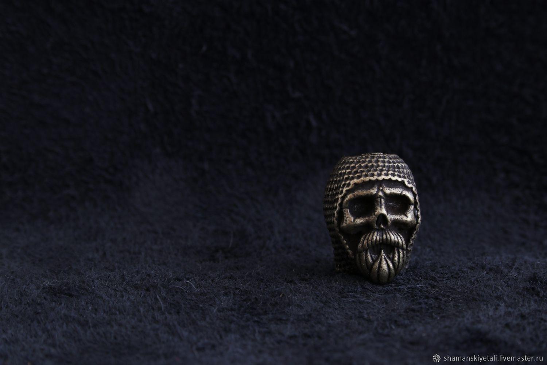 Bead lanyard skull bead for knife, Knives, Volgograd,  Фото №1