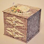 Для дома и интерьера ручной работы. Ярмарка Мастеров - ручная работа Шкатулка-комодик. Handmade.