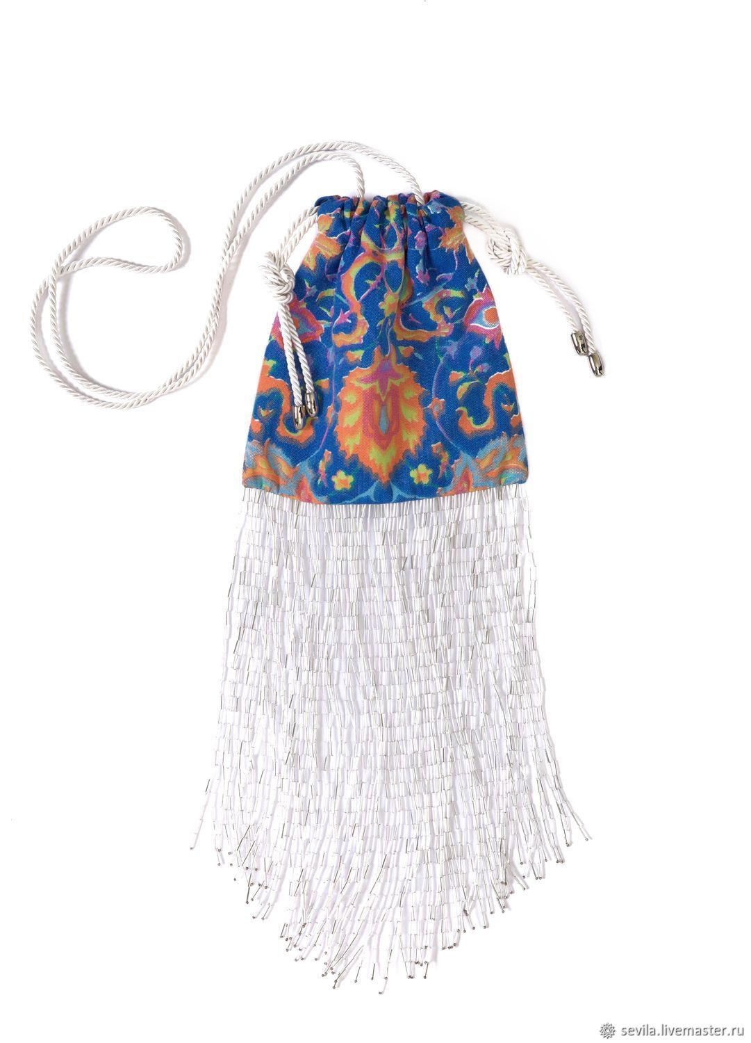 Bag with fringe of glass beads FREEDOM LOVER, Classic Bag, St. Petersburg,  Фото №1