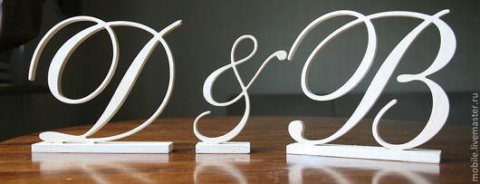 Элементы интерьера ручной работы. Ярмарка Мастеров - ручная работа. Купить Буквы из дерева. Handmade. Буквы из дерева, подарок