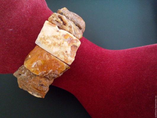 Браслеты ручной работы. Ярмарка Мастеров - ручная работа. Купить браслет ПРЕСТИЖ 4. Handmade. Белый, пейзажный янтарь, янтарь