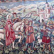 Винтаж handmade. Livemaster - original item French tapestry. MEDIEVAL PLOT. HANDMADE Princess. Handmade.