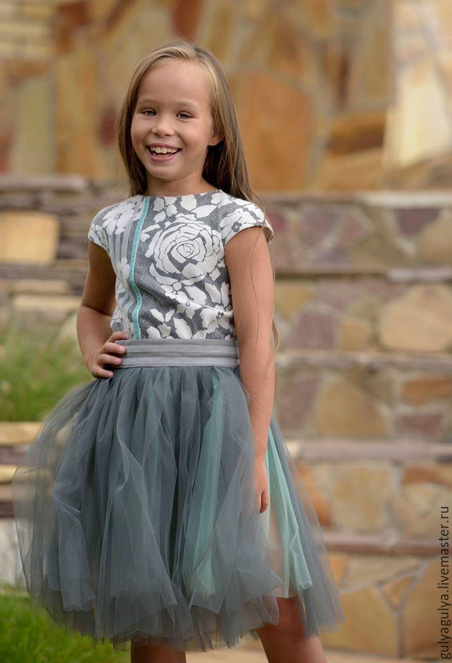 Одежда для девочек, ручной работы. Ярмарка Мастеров - ручная работа. Купить Из летнего, нарядного. Handmade. Эксклюзив, мятный, вискоза