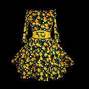 """Одежда ручной работы. Ярмарка Мастеров - ручная работа Платье """"Ночные Тюльпаны"""" в желтом. Handmade."""