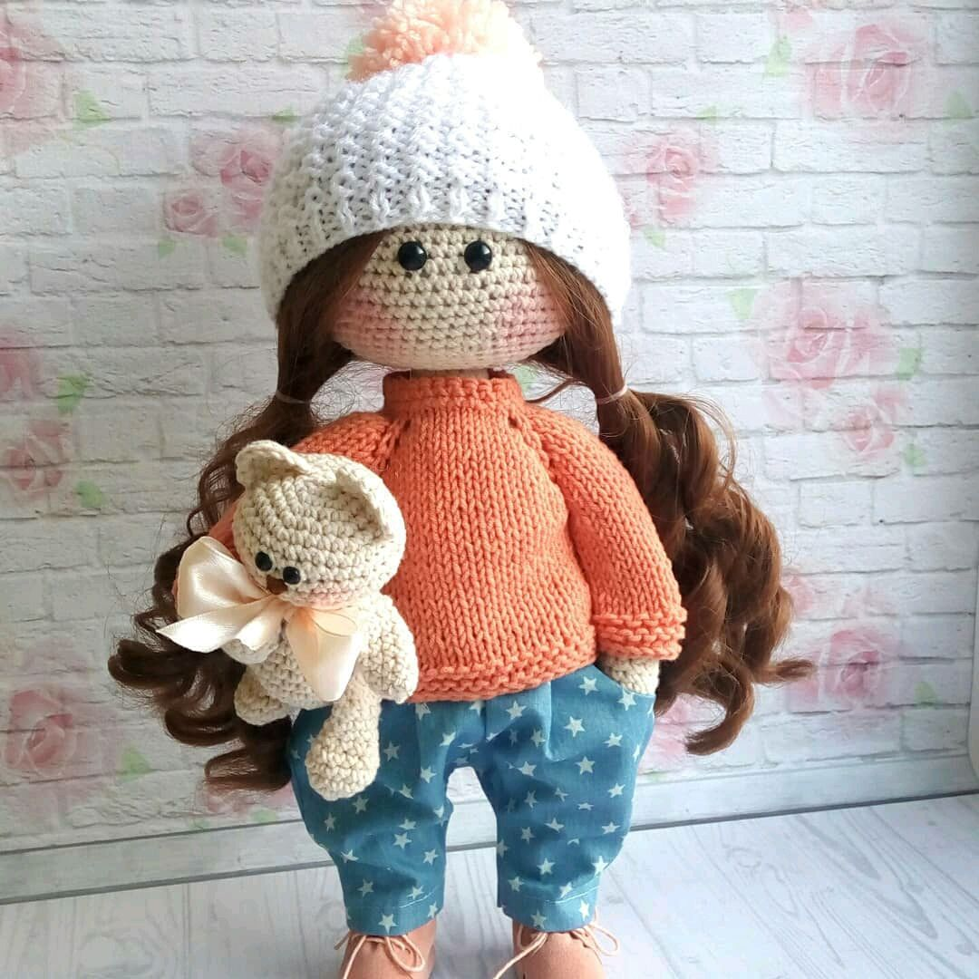 Вязаная интерьерная кукла, Куклы Тильда, Новосибирск,  Фото №1