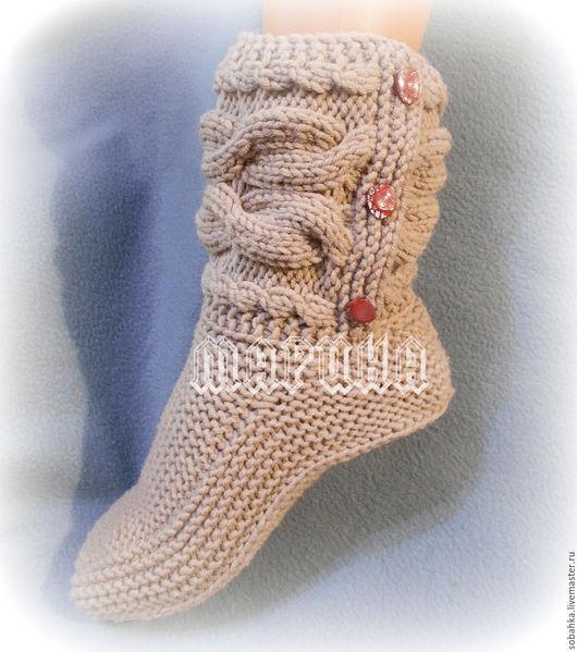 Носки, Чулки ручной работы. Ярмарка Мастеров - ручная работа. Купить САПОЖКИ-носки. Handmade. Бежевый, носки ручной работы