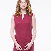 Одежда handmade. Livemaster - original item Laconic dress-a sundress from the cherry flax. Handmade.