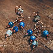 Украшения ручной работы. Ярмарка Мастеров - ручная работа Серьги «Синие дали». Handmade.
